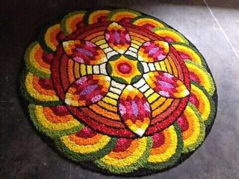 Onam Pookalam Designs Theme