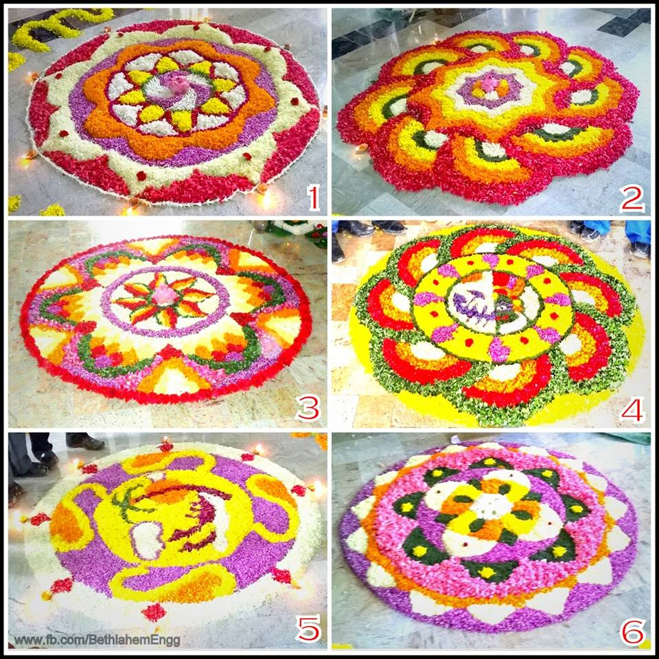 Pookalam Designs for Onam 2017